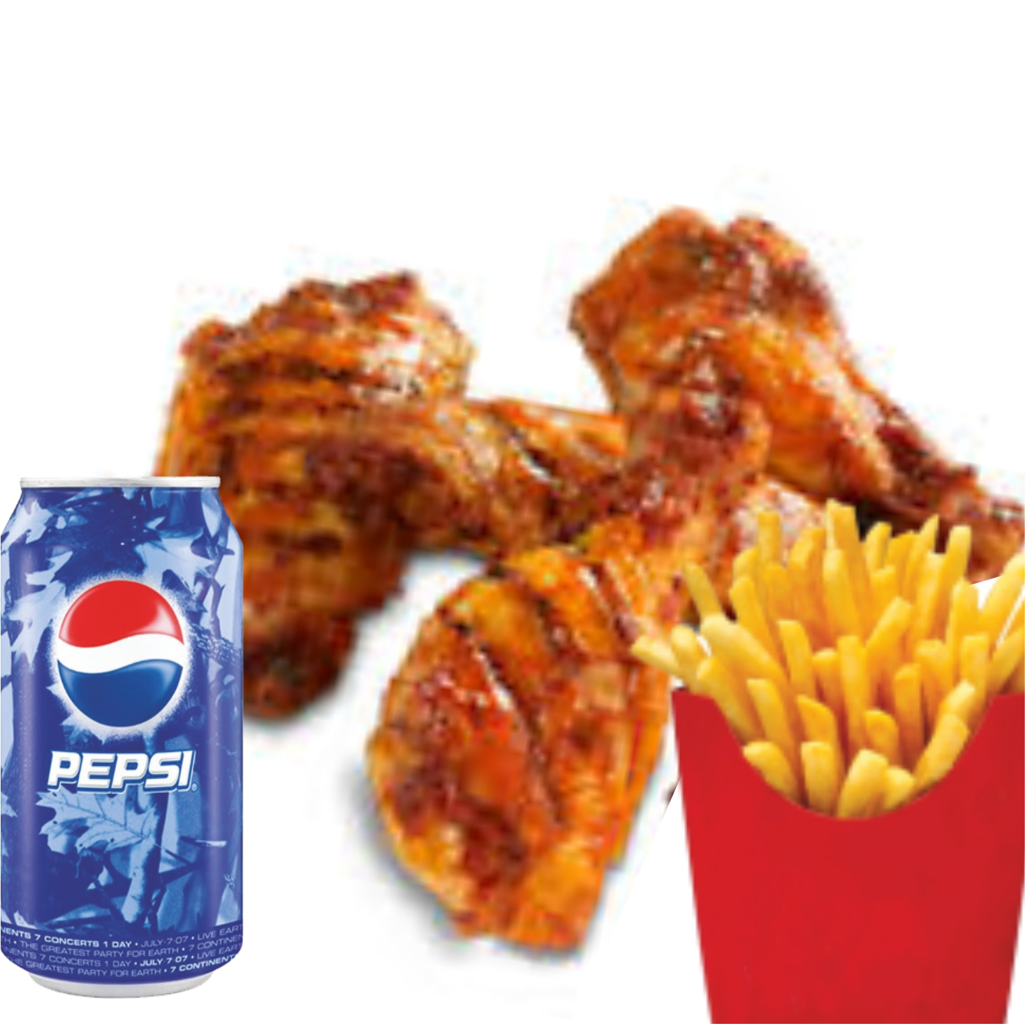 Peri peri Wings Meal image