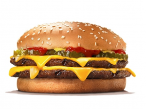 double cheese burger image
